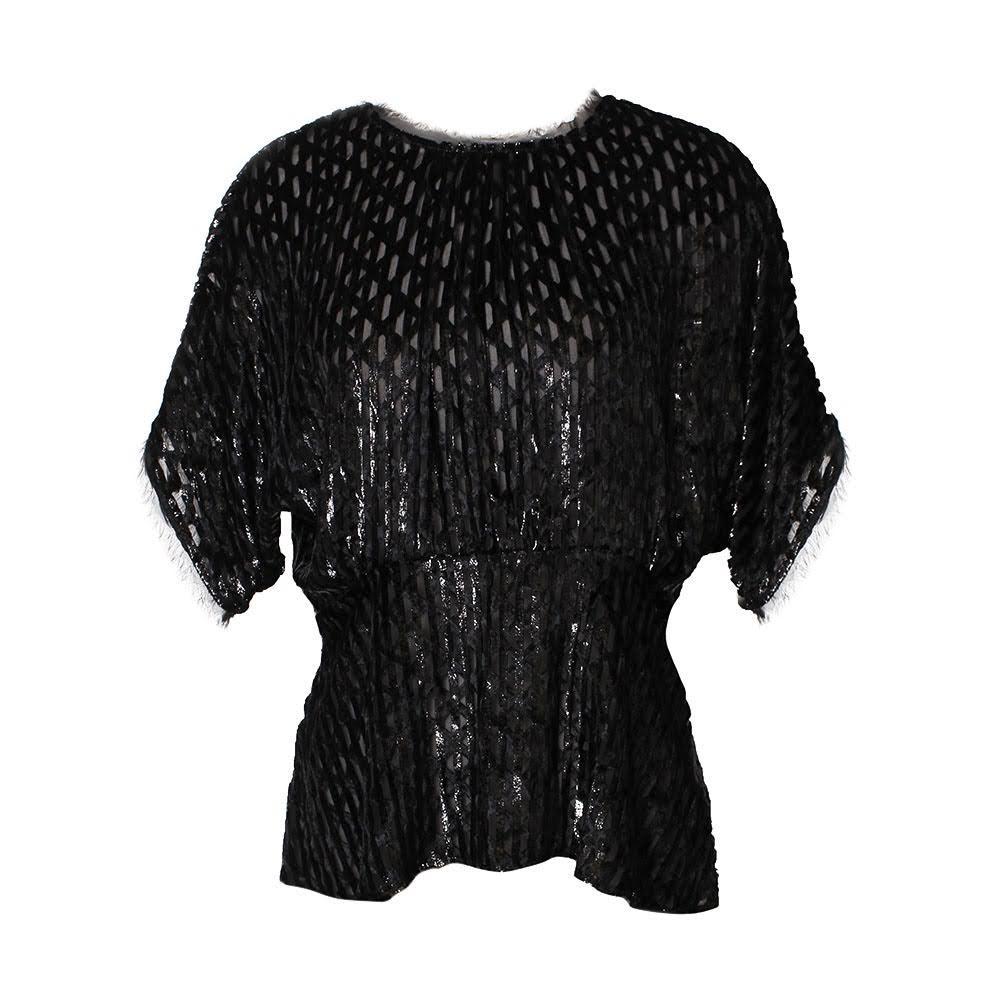 Rachel Comey Size Small Black Sheer Top