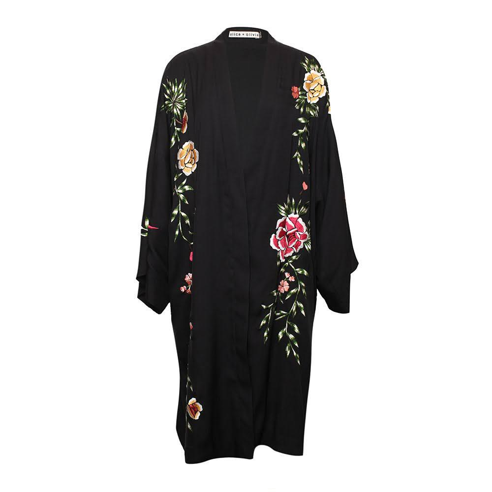 Alice + Olivia One Size Floral Kimono