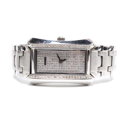 Croton Diamond Stainless Steel Swiss Watch