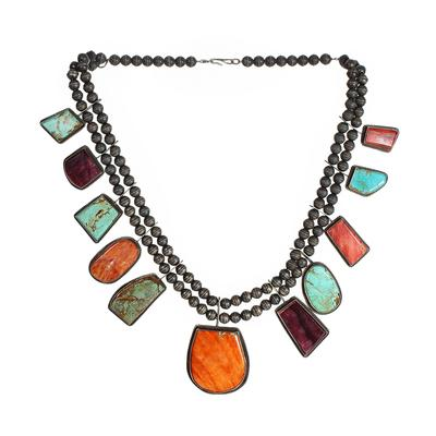 Selina Warner Multi Gemstone Navajo Necklace