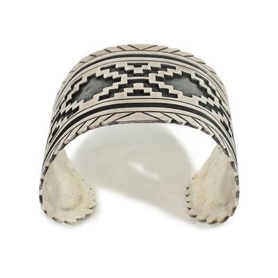 CIR Mexico Aztec Stamped Sterling Silver Cuff Cuff