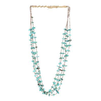 Turquoise Beaded Heishi Necklace
