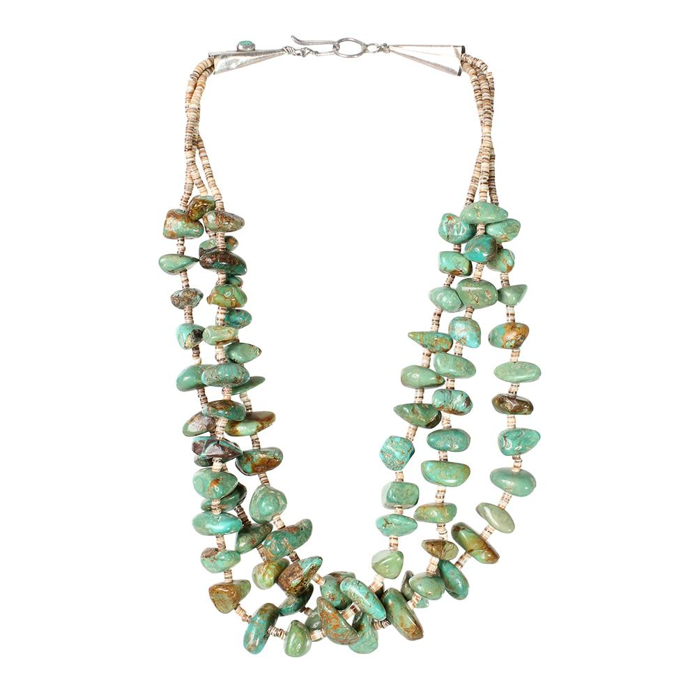 Mt Hallmarked Turquoise Heishi Necklace