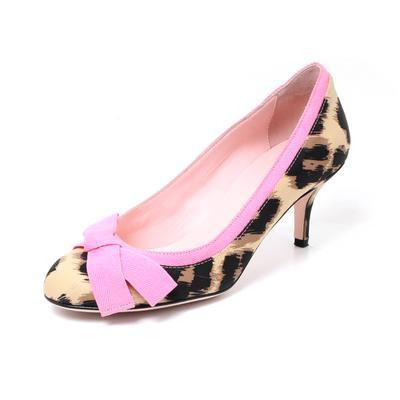 Valentino Size 7.5 Leopard Print Heels