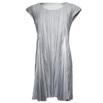 Pleats Please Size Medium Silver Dress
