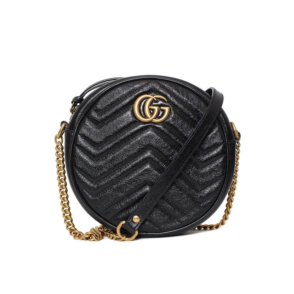 Gucci Marmont Mini Round Crossbody Bag