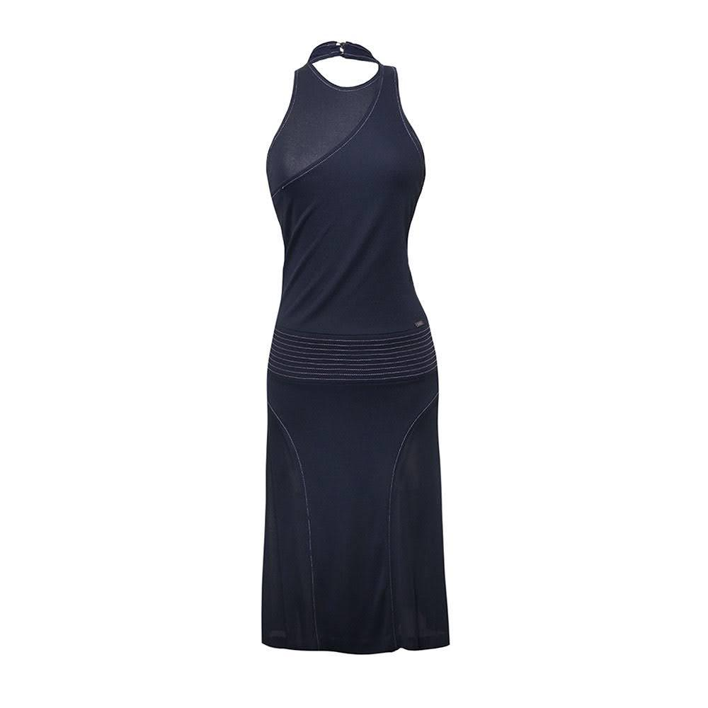 Chanel Size 38 Navy Halter Dress