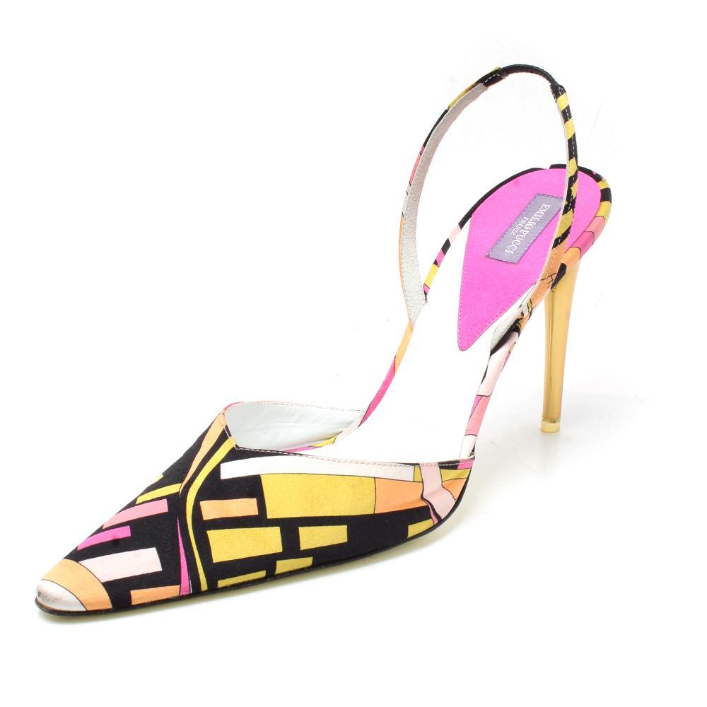 Emilio Pucci Satin Size 40 Slingback Heel