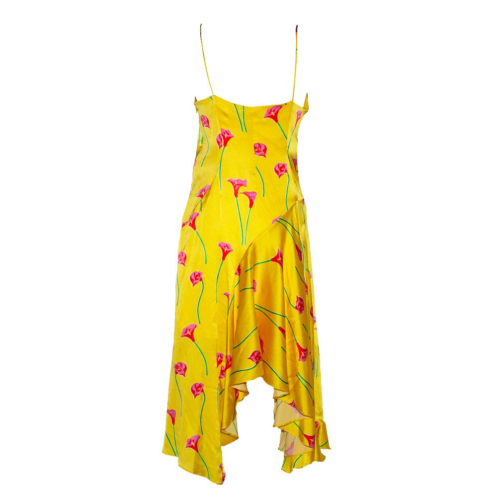 Caroline Constas Size Medium Yellow Maxi Dress