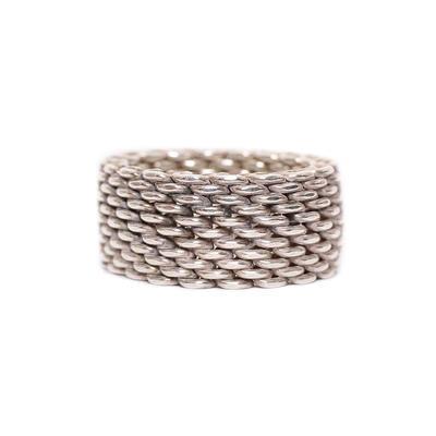 Tiffany & Co. Size 6.5 Somerest Mesh Ring