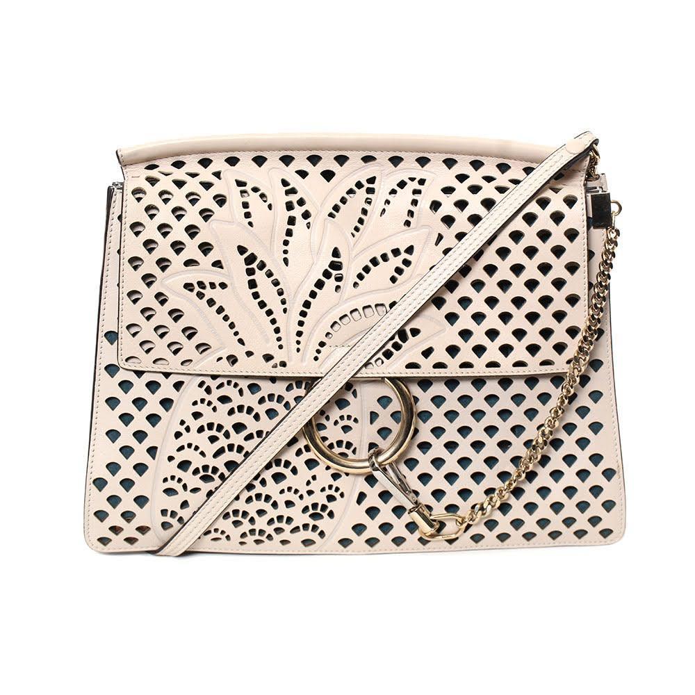 Chloè Cream Pineapple Leather Bag