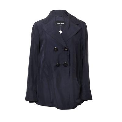 Giorgio Armani Size 6 Navy Coat
