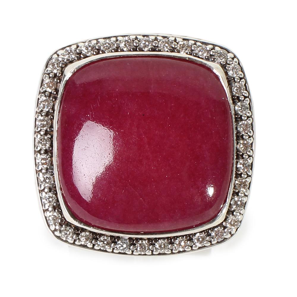 David Yurman Size 9 Albion Carnelian Ring