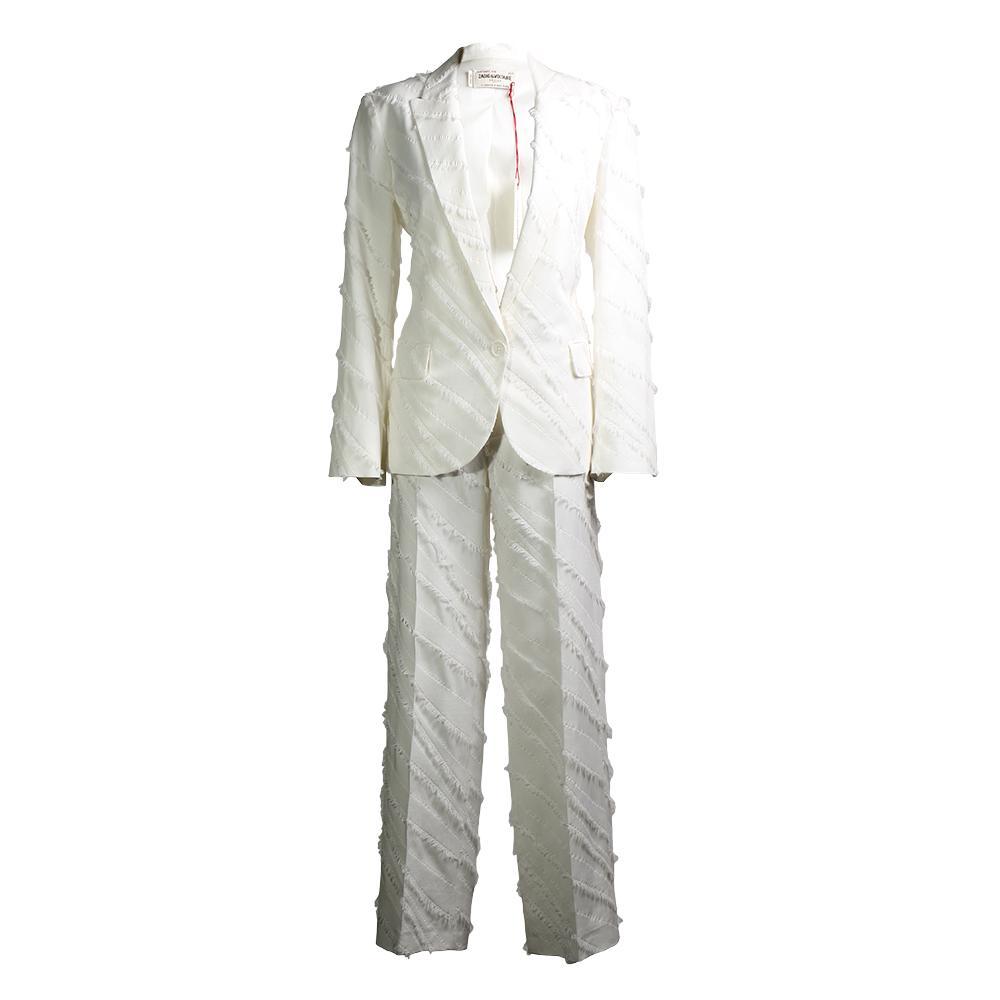 Zadig & Voltaire Size 34 Viking Effiloche Suit