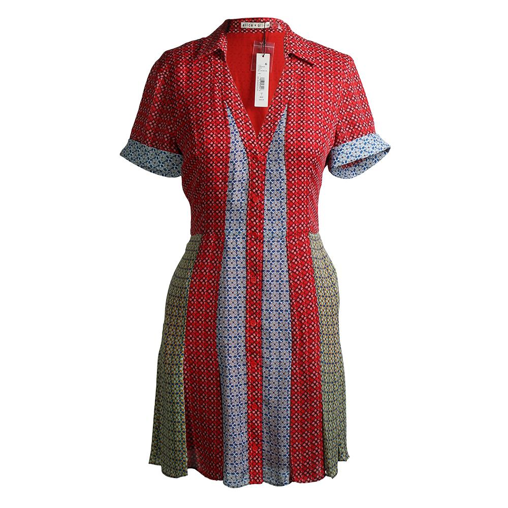 Alice + Olivia Heart Flower Cherry Comb Size 2 Dress
