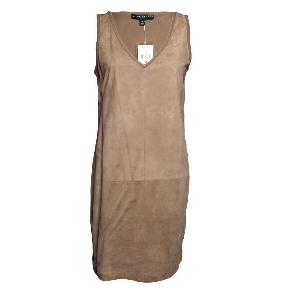Ralph Lauren Black Label Size Medium Suede Dress