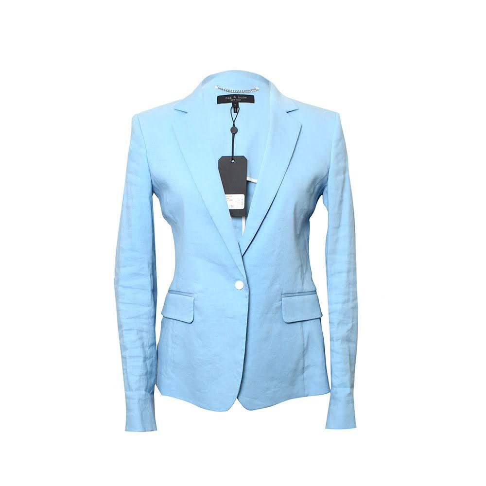 Rag & Bone Size 0 Baby Blue Blazer