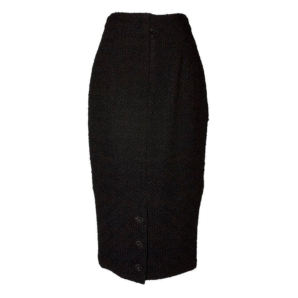 Chanel Size 40 Black Skirt