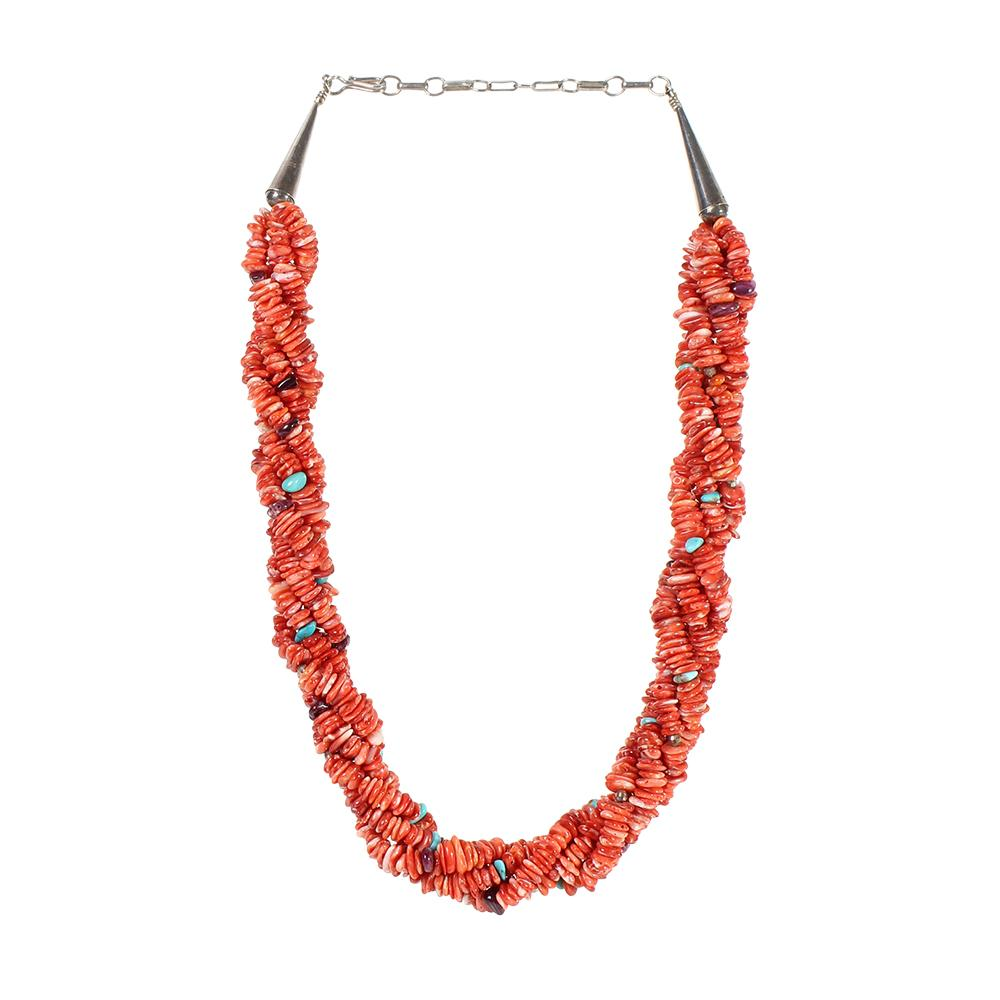 Four Strand Multi Stone Necklace
