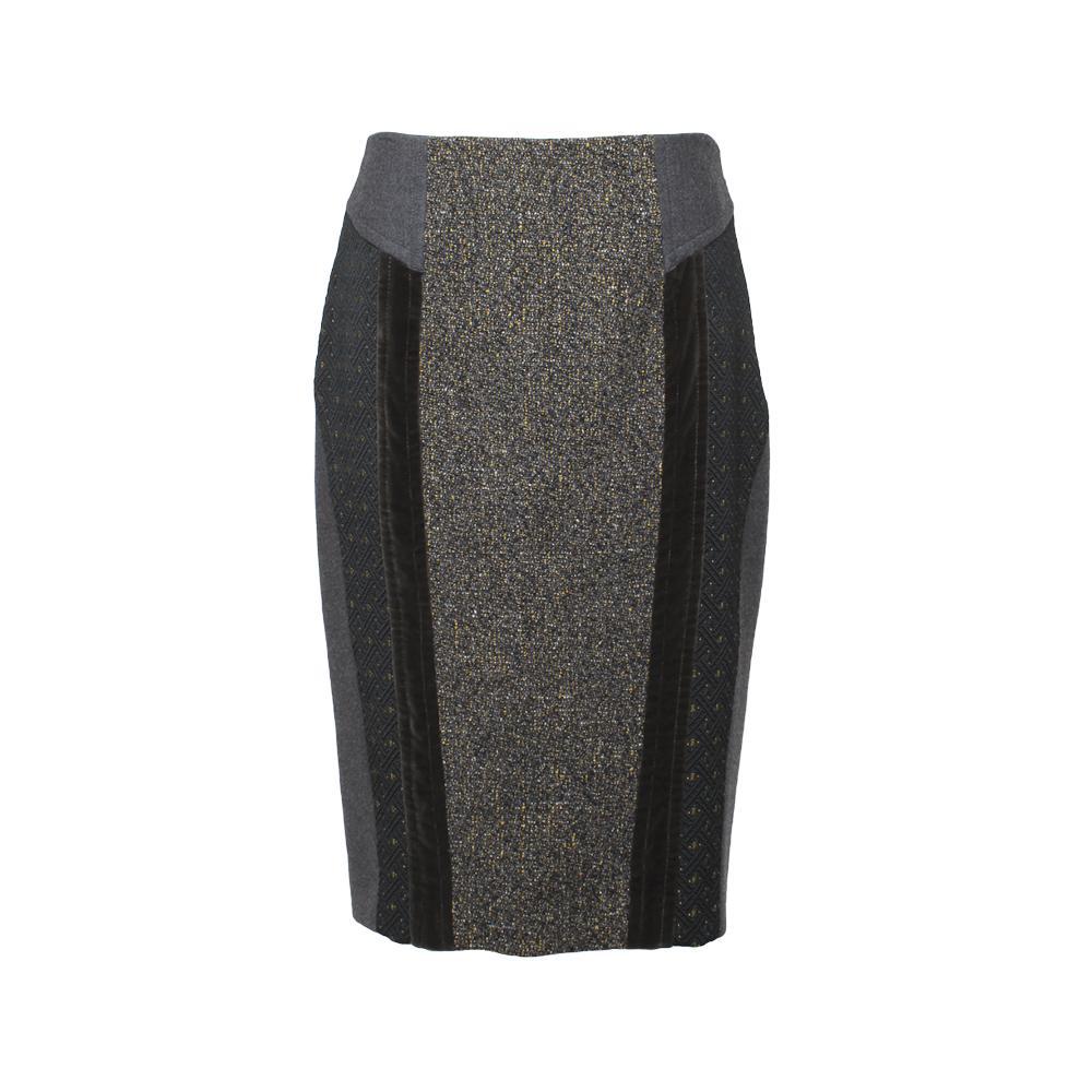 Etro Size 44 Grey Skirt