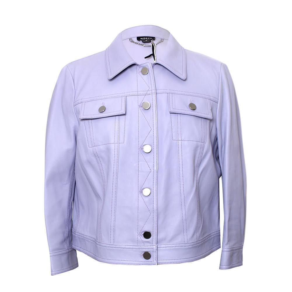 Worth Size 10 Lavender Leather Jacket