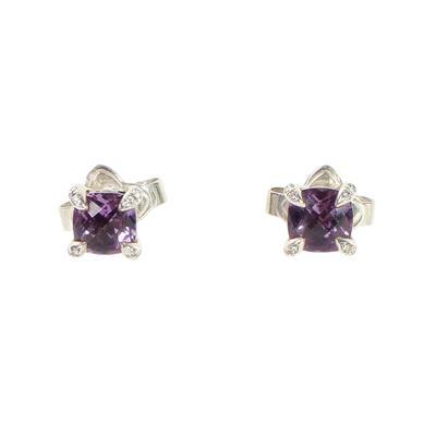David Yurman Chatelaine Amethyst & Diamond Earrings