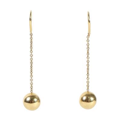 Tiffany & Co. 18k Yellow Gold Ball & Hook Earrings