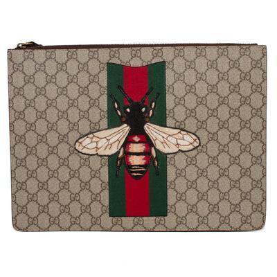Gucci GG Supreme Monogram Bee Computer Portfolio Bag