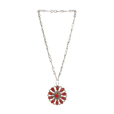 Raymond Coriz Coral Pendant Necklace
