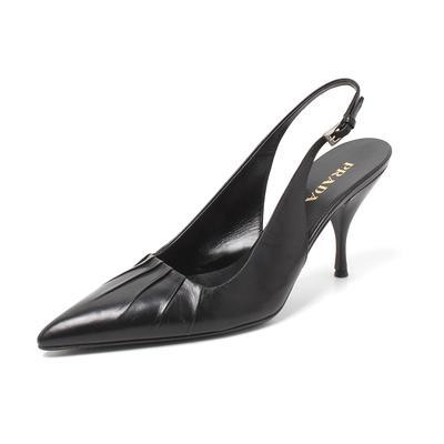 Prada Size 38 Slingback Mules