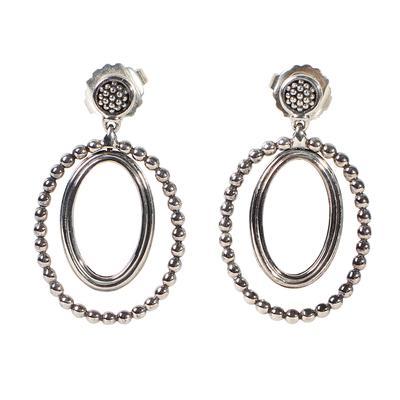 Lagos Oval Drop Earrings