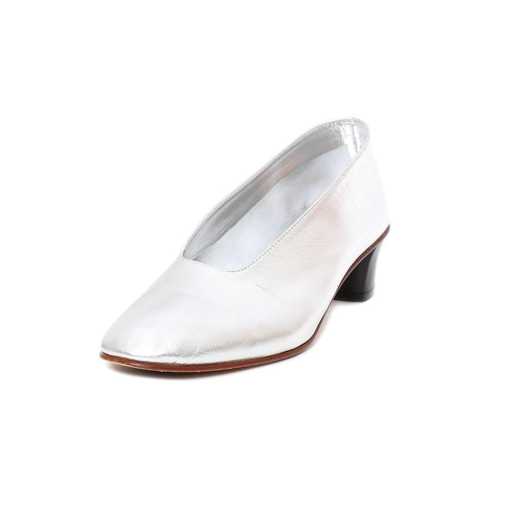 Martinano Size 35.5 Silver Heels