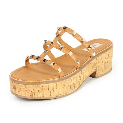 Valentino Size 41 Rockstud Cork Platforms