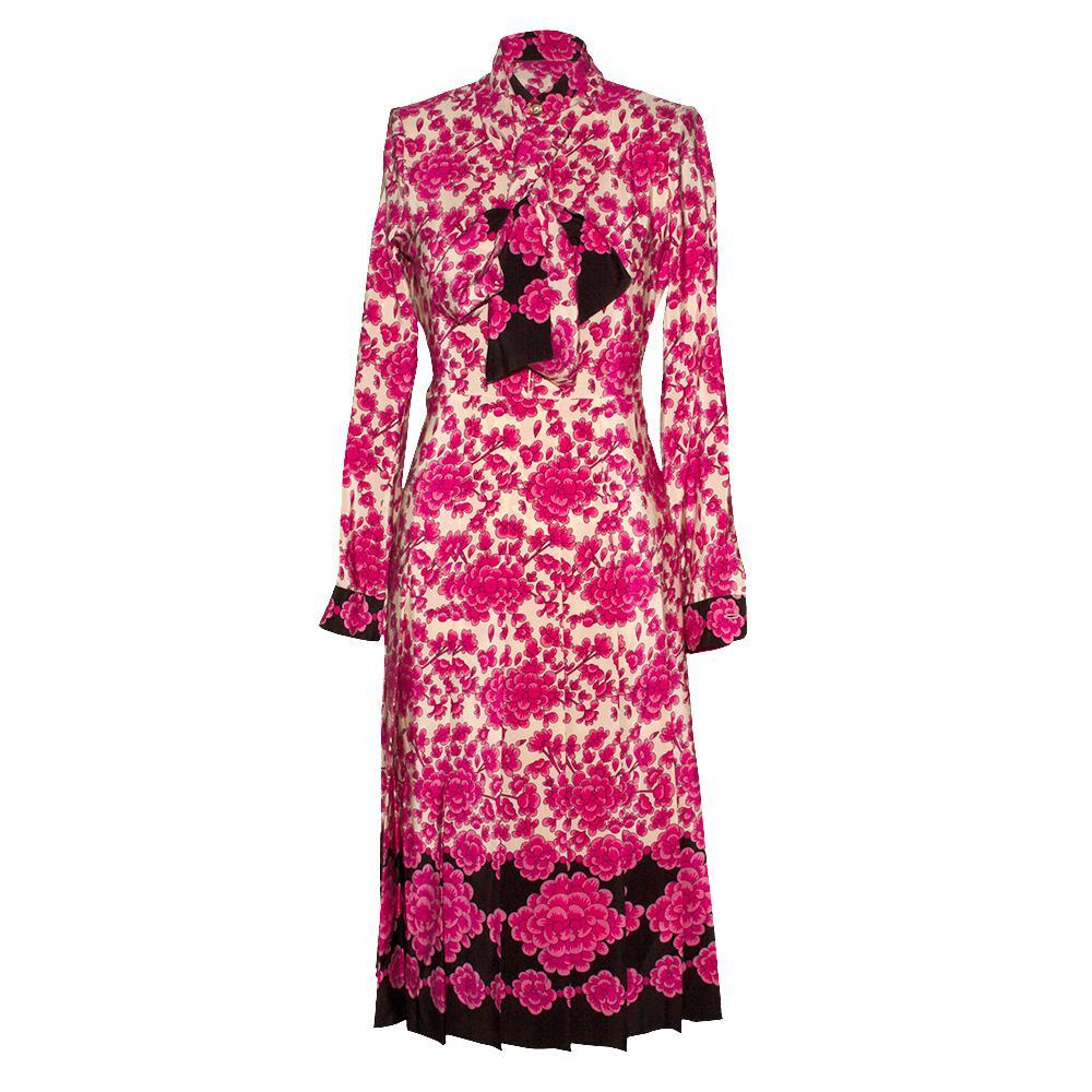Gucci Size 38 Pink Floral Dress