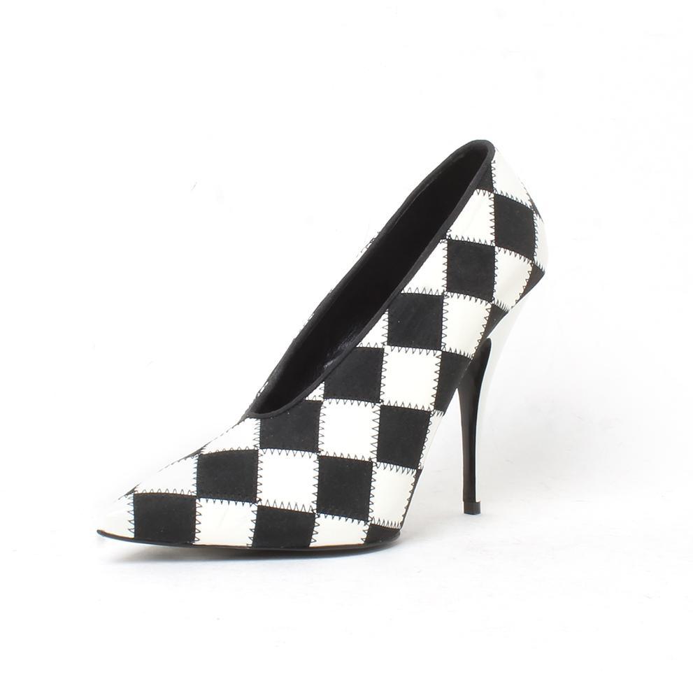 Stella Mccartney Size 6.5 Checkered Pointy Toe Heel