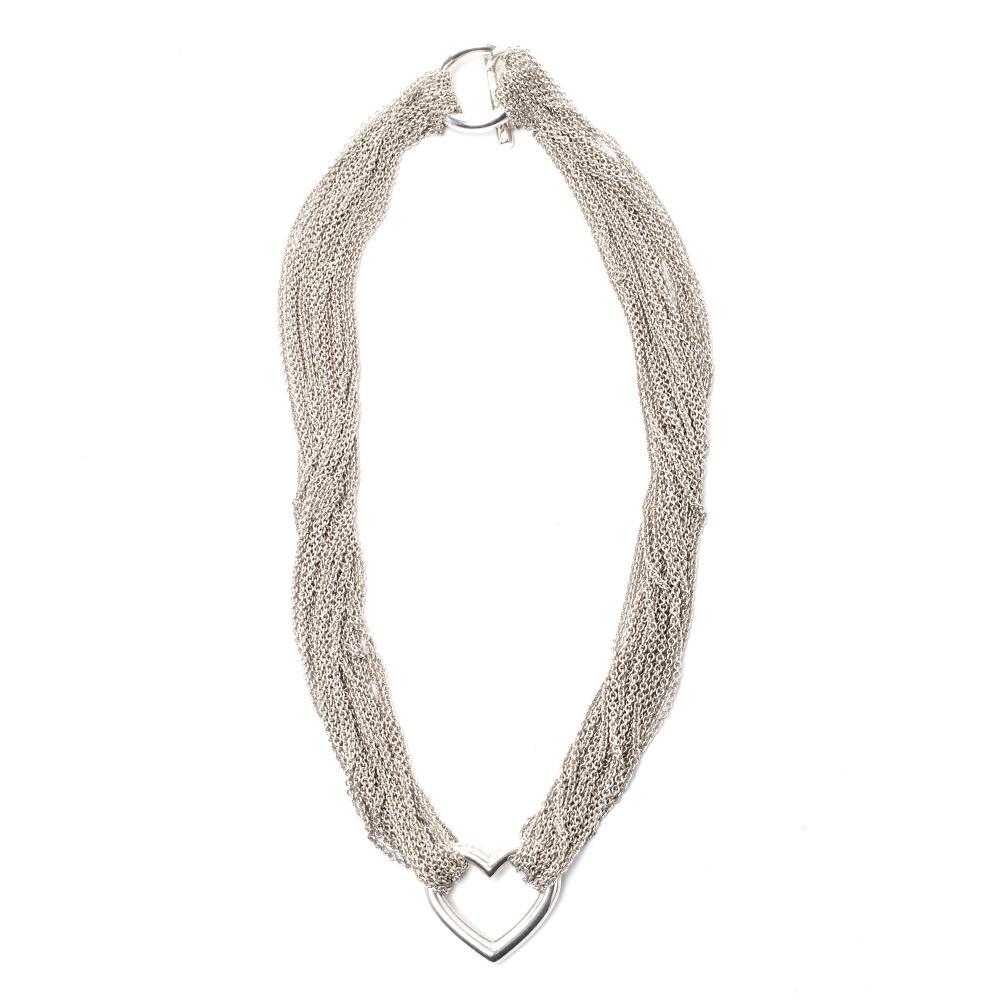 Tiffany & Co..925 Multi Chain Heart Toggle