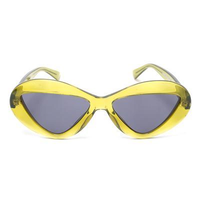 Moschino Green Geometric Frame Sunglasses