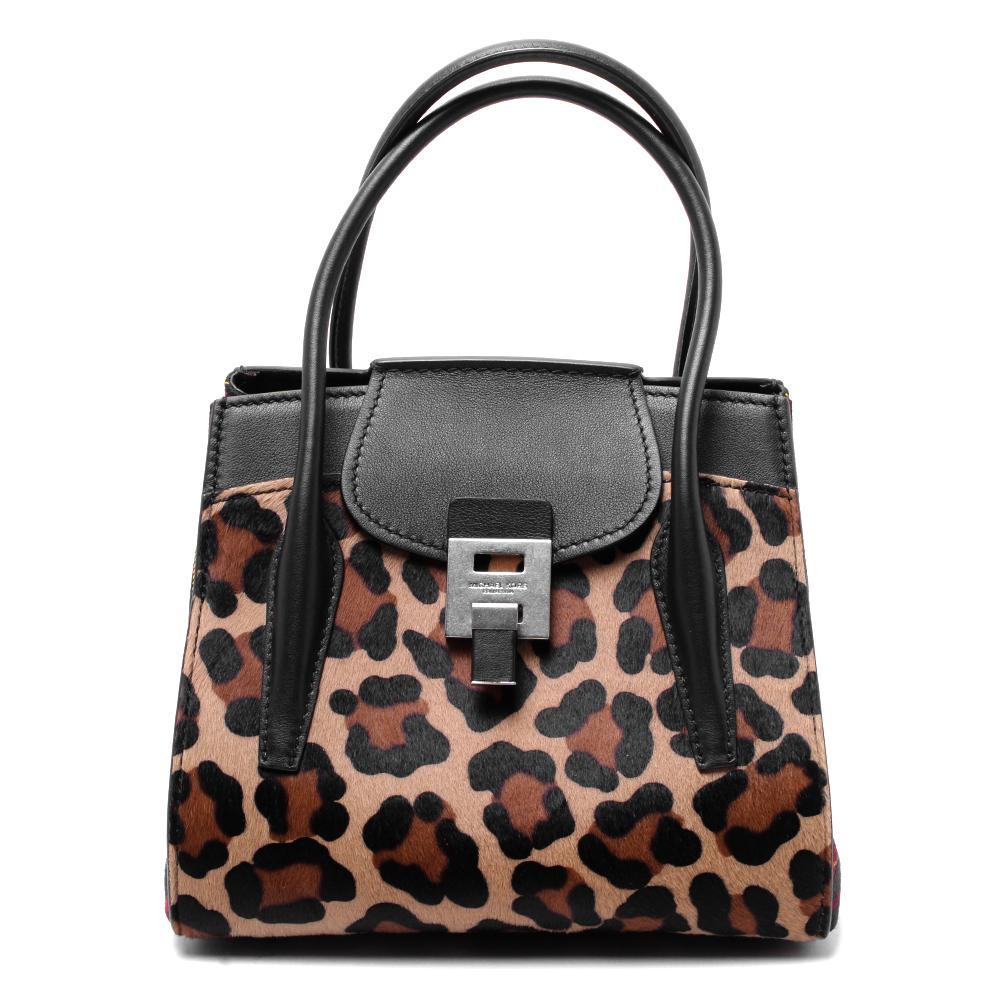Michael Kors Collection Leopard Print Calfhair Handbag