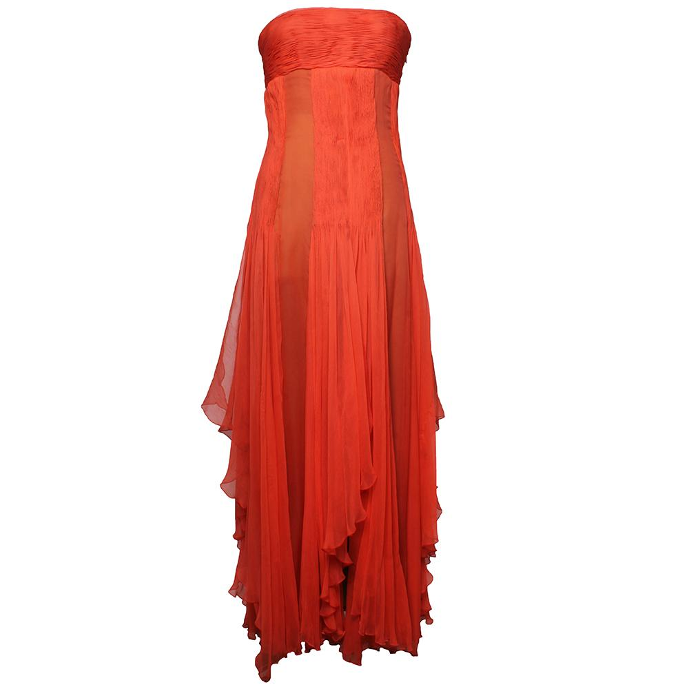 Valentino Size 8 Vintage Boutique Silk Dress