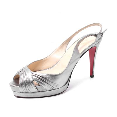 Christian Louboutin Size 39 Metallic Slingback High Heels