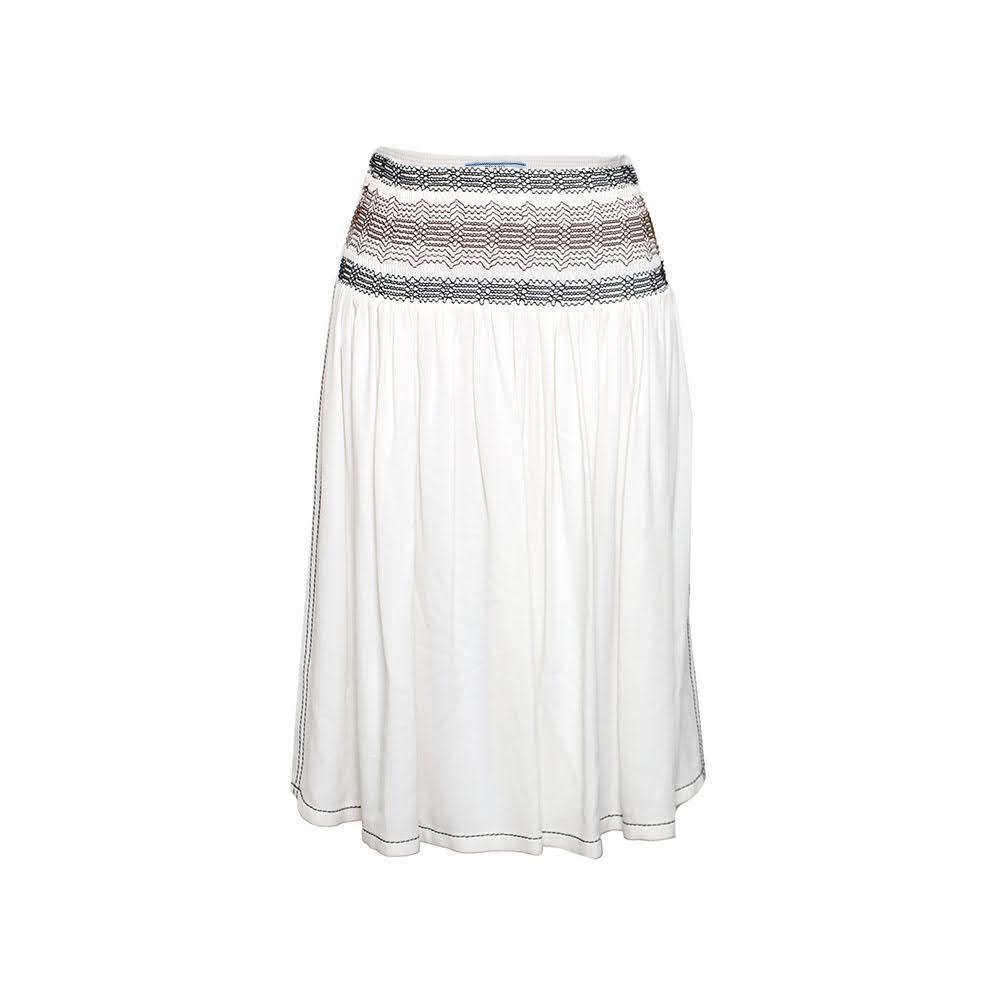 Prada Size 38 White Skirt