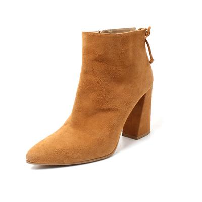Stuart Weitzman Size 9 Suede Chunk Heel Boots