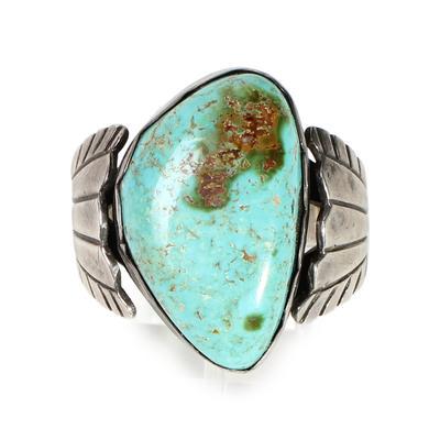 Navajo Turquoise Shield Ring