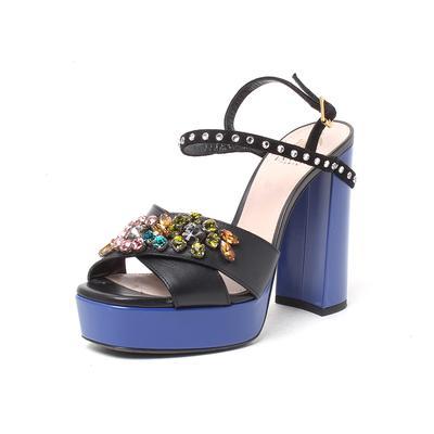 Lanvin Size 37.5 Crystal Heels