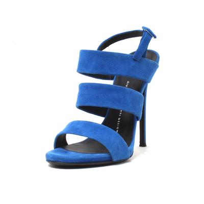Giuseppe Size 38 Zanotti Blue Suede Heels