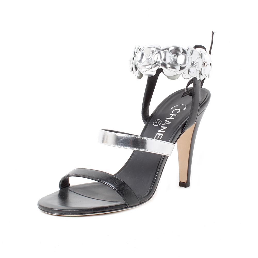 Chanel Size 37.5 Flower Strap Heel