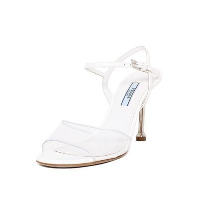 Prada Size 37.5 White Heels