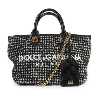 Dolce & Gabbana Tweed Shopping Tote