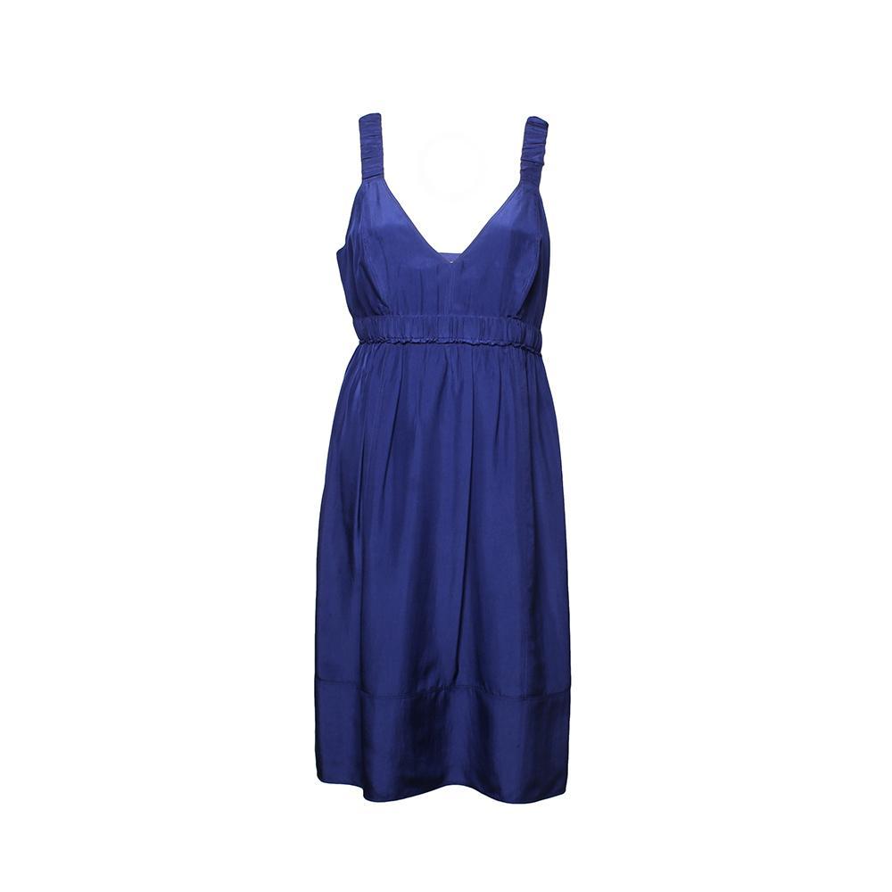 Burberry Size 8 Blue Silk Dress