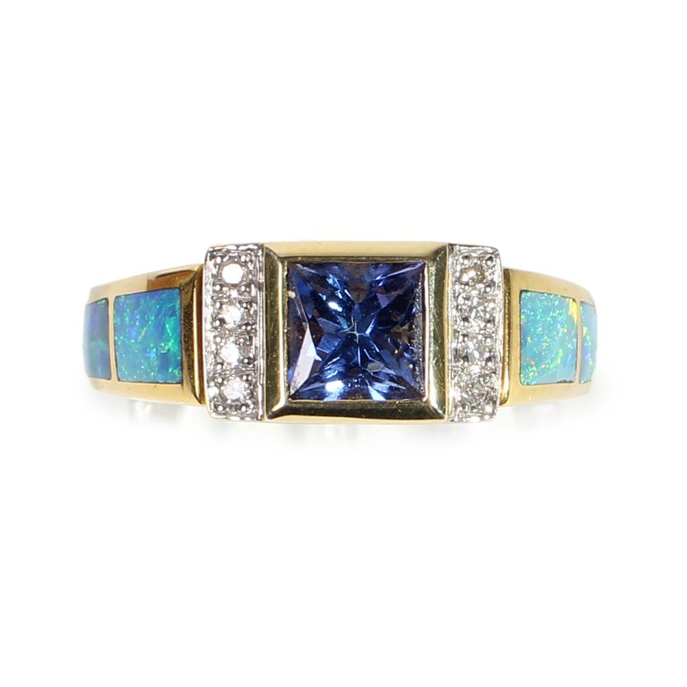 14k Yellow Gold Tanzanite Ring Size 6